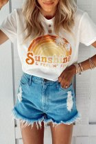 Uniqdress Rainbow Print Sunshine T-shirt (2 Colors)