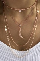 Uniqdress Moon & Star Gold Necklace