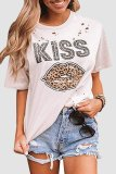 Uniqdress Kiss Lip Leopard Print T-shirt (4 Colors)