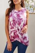 Uniqdress Tie-dye Twist Purple Tank Top