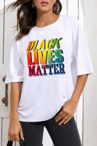 Uniqdress Letter Black Lives Matter Print T-shirt (2 Colors)