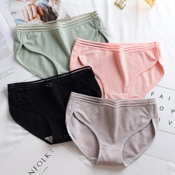 Uniqdress Striped Pink Panties (4 Colors)