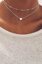 Uniqdress Heart Silver Necklace