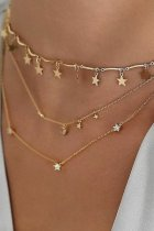 Uniqdress Tassel Design Star Gold Necklace