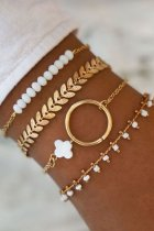 Uniqdress Stylish 4-piece Gold Bracelet