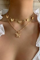 Uniqdress Butterfly Gold Necklace