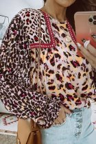 Uniqdress O Neck Leopard Print Blouse