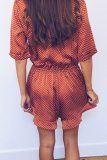 Uniqdress Knot Design Wine Red One-piece Romper
