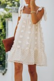 Uniqdress Lace-up Apricot Mini Dress