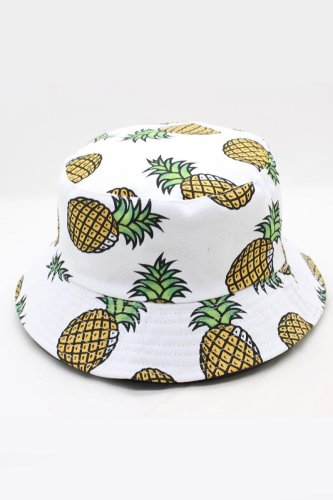 Roselypink Banana Print White Hat(3 Colors)