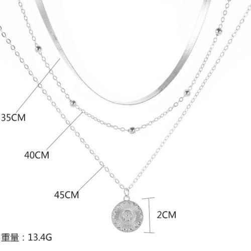 Roselypink Hollow-out Silver Necklace