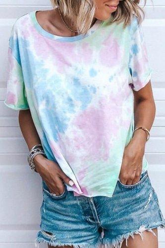 Roselypink Tie-dye Blue T-shirt