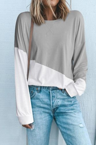 Roselypink Patchwork Grey T-shirt