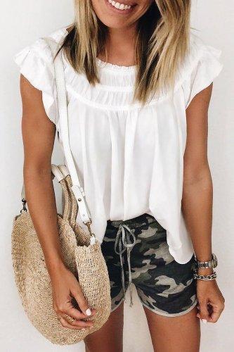 Roselypink Drape Design White Blouse