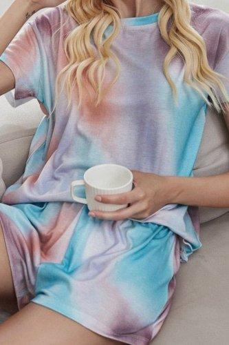 Roselypink Tie-dye Multicolor Loungewear