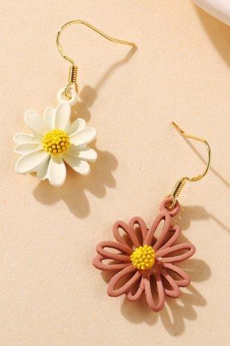Roselypink Asymmetrical Multicolor Earring