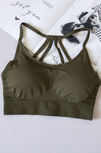 Roselypink Patchwork Army GreenBra(2 Colors)