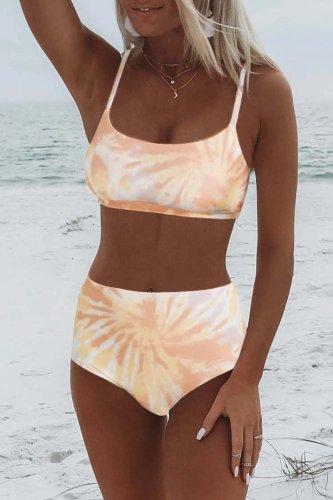 Roselypink Tie-dye Skin Color Bikini Set