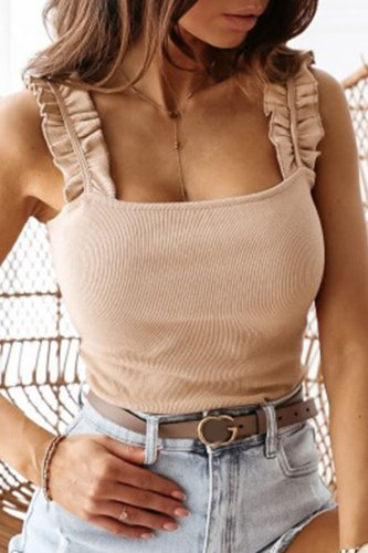 Roselypink Fold Design Apricot Camisole