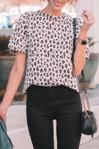 Roselypink Leopard Printed Shirts