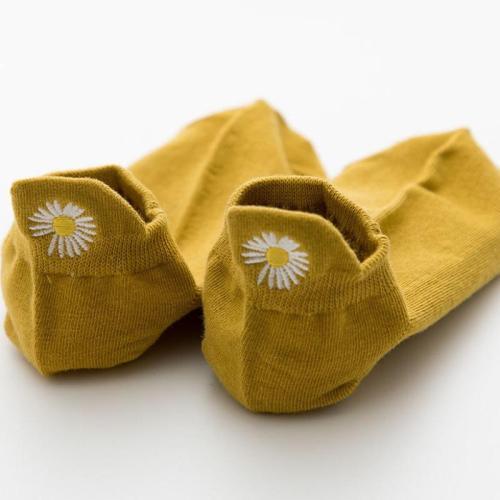 Roselypink Daisy Yellow Socks(5 Pairs)