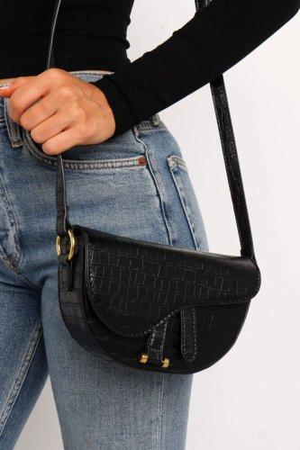Roselypink Basic Black Crossbody Bag