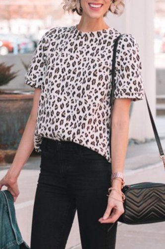 Roselypink Leopard Printed Shirts