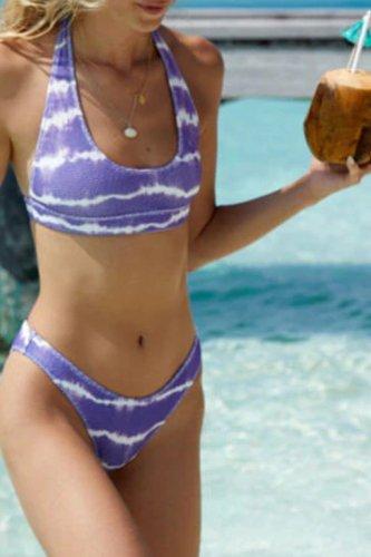 Roselypink Tie-dye Purple Bikini Set