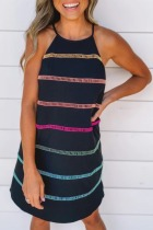 Roselypink Halter Striped Print Mini Dress (2 Colors)