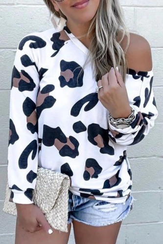 Roselypink Leopard Printed White T-shirt (2 Colors)