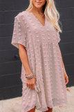 Roselypink Pocket Patched BlueMini Dress(2 Colors)