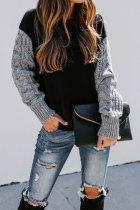 Roselypink Patchwork Black Sweater
