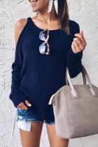 Roselypink Dew Shoulder Blue Sweaters