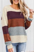 Roselypink Color-lump Multicolor Sweater