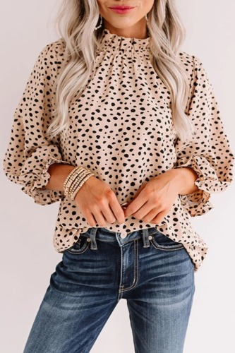 Roselypink Leopard Dot Printed Blouse (2 Colors)