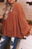 Roselypink Pumpkin Spot On Babydoll Loose Orange Blouse (4 Colors)