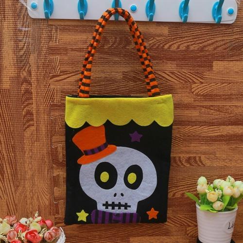 Roselypink Chic Skull Print Patchwork Black Gift Bag