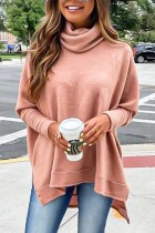 Roselypink Turtleneck Loose Pink Sweater (7 Colors)