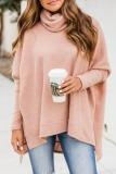 Roselypink Turtleneck Loose Pink Sweater (7 Colors)