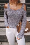Roselypink Cold Shoulder Grey Sweater (3 Colors)