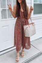 Dokifans Leopard Printed Loose One-piece Jumpsuit