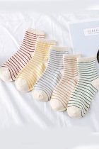 Dokifans Striped Design Multicolor Socks (5 Pairs)