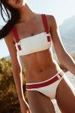 Dokifans Bandeau Patchwork Belt Design Bikini Set (2 Colors)