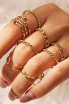 Dokifans 8-piece Rose Gold Ring