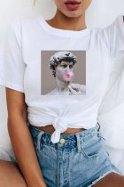 Dokifans Funny Print White T-shirt