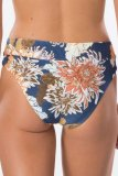 Dokifans Patchwork Floral Print Blue Bikini Set