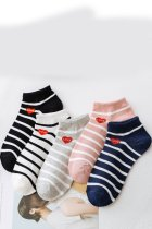 Dokifans Striped Multicolor Socks (5 Pairs)