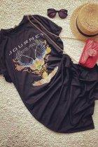 Dokifans Print Black Midi Dress