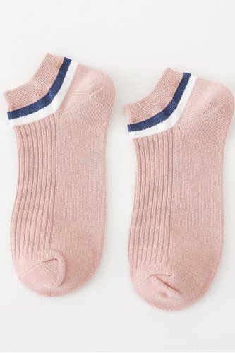 Dokifans Patchwork Pink Socks(20 Pairs) (2 Colors)