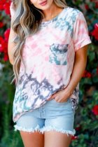 Dokifans Tie-dye Print Pocketed Multicolor T-shirt